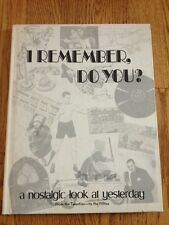 "Vtg 1973 ""I Remember, Do You?"" Book History Pictures Articles 1920s -1950s"