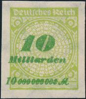 DR 1923, MiNr. 328 A P U, ungebraucht, Mi. 60,-