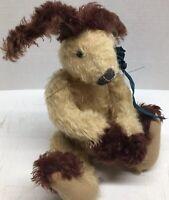 "Mohair Artist Bunny Sheryl Wells Original 2005 Pansy 16""Plush Jointed Rabbit Tan"
