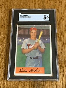1954 Bowman #15 Richie Ashburn - SGC 3