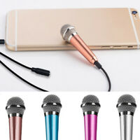 Portable 3.5mm Stereo Studio Mic KTV Karaoke Mini Microphone For Cell Phone