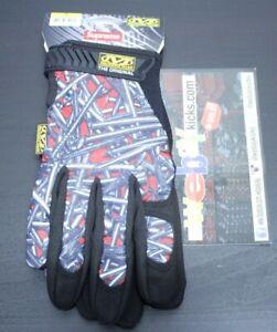 Supreme NYC Mechanix Wear Black White Red Mechanics Work Gloves Size Small New