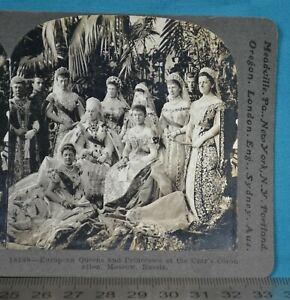 1890s Stereoview Photo Russia European Queens Princesses Czar's Coronation Royal