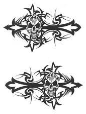 Biker skull funny motorcycle car van, bumper, windows, Wall art decal stickers