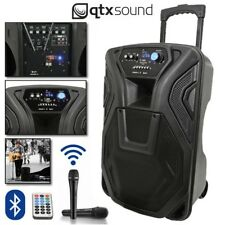 "QTX Busker 12 Portable USB Bluetooth DJ Band Karaoke 12"" PA Speaker System"