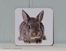 Mars & More 6 x Untersetzer Hase Kaninchen Kork Pflegeleicht Osterdeko 10x10