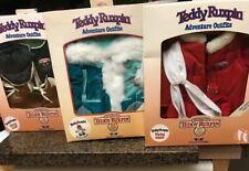 3 Adventure Outfits For Teddy Ruxpin Original Box Vintage