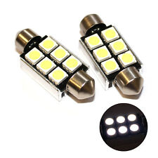 Fits MG MGF 1.8i 16V White 6-SMD LED 39mm Festoon 12v Number Plate Light Bulbs