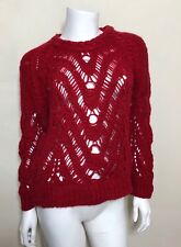 IRO Britaly Pull Over Sweater in Red Size 36 $382