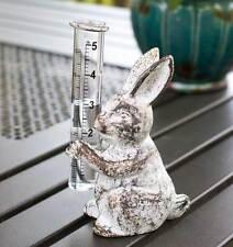 Vintage Style Cast Metal  Bunny Rain Gauge, with rain gauge included 420055