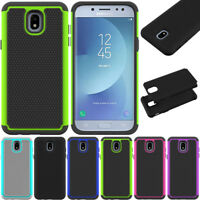 Shockproof Rubber Case Hybrid Hard Armor Cover For Samsung Galaxy J3/J5 Pro 2017