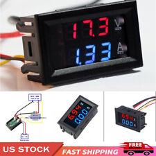 Digital Blue Red Led Voltmeter Ammeter Amp Volt Meter Current Shunt 100v 10a Dc