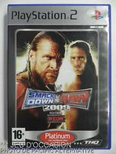 COMPLET Jeu Platinum SMACKDOWN VS RAW 2009 playstation 2 sony PS2 francais catch