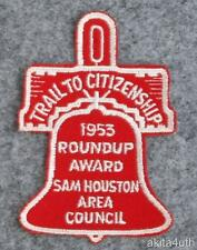 1953 Sam Houston Area Council - Roundup Award - BSA