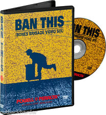 Powell Peralta Skateboard Ban This Dvd Bones Brigade Sealed New