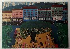 Carte postale Place du marché, Jacques lehmann    peinture naive    postcard