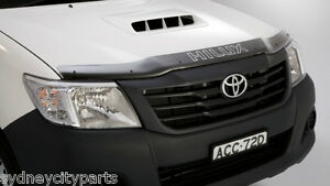 TOYOTA HILUX BONNET PROTECTOR TINTED SEPT 2011 - JULY 2015 NEW GENUINE ACCESSORY