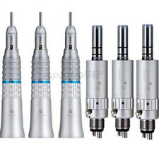 3 Sets NSK Style Dental Low Speed Straight Handpiece + E-type Air Motor 4 H BAN