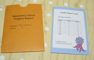 American Girl Doll Truly Me JULIE NICKI NIKKI-Mrs Lawton REPORT CARD ONLY-2007