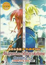 DVD Akagami no Shirayukihime Season 1 + season 2 (1-24 end)
