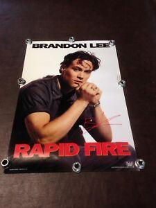 BRANDON LEE 1992 SOUVENIR PROMO POSTER - RAPID FIRE - EXTREMELY RARE