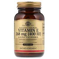 Solgar Naturally Sourced Vitamin E 400IU 100 Softgels