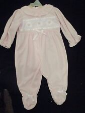 basic edition pink one piece outfit with feet. 9/12 mo NEW