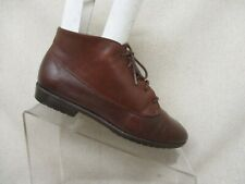 MUNRO Sport Brown Leather Lace Up Ankle Fashion Boots Booties Size 7 M - 4196