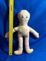 "Antique/VTG Handmade Rag Doll Painted Face 18"" Cloth Halloween Costume"