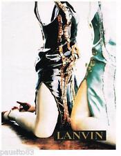 PUBLICITE ADVERTISING 105  2002  LANVIN  haute couture 2