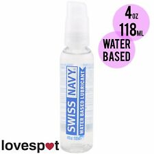 NEW Swiss Navy Premium Water Based Lubricant Lube Sex Toys Safe 4oz/118ml
