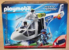 Playmobil 6874 City Action Polizei Helikopter mit LED-Suchscheinwerfer NEU/OVP