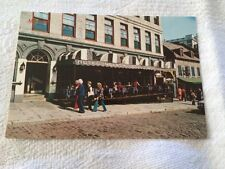 Vintage POSTCARD Montreal Quebec CANADA terraces at PLACE JACQUES-CARTIER