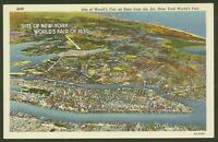 Site of New York World's Fair 1939 from the Air - Lovely Vintage Postcard