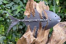 Escultura De Metal Fish Art - 3 Pieza Única Mano Hecha Por Herrero Decoración del hogar