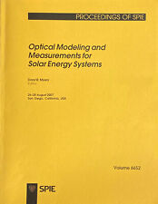Optical Modeling and Measurements for Solar Energy Systems (SPIE)