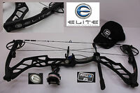 """ELITE IMPULSE 31 Tactical Black  26"""" to 30"""" 65#  Compound Bow Package"""