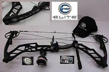 "ELITE IMPULSE 31 Tactical Black  26"" to 30"" 65#  Compound Bow Package"