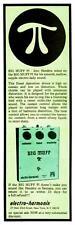 Big Muff Pi    **POSTER**   Electro Harmonix VINTAGE Image Guitar Fuzz Promo ad
