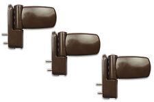3 X Avocet Brown Adjustable Upvc Door Flag Hinges ET3DBR