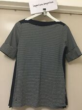 Women's Lauren Ralph Lauren Striped Boatneck T-Shirt Top Navy/Ivory Size S
