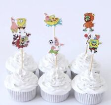 NEW Spongebob SquarePants Theme Character Cupcake Toppers x 24 - For Parties