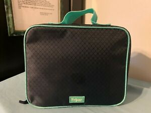 """THIRTY-ONE Blue-Green Insulated Zip-Around LUNCH TOTE 10"""" W x 8.5"""" T x 3""""D~Demo"""