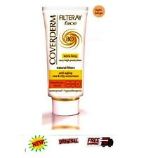 COVERDERM FILTERRAY Face Cream Light Beige Sun Protection ANTI AGING SPF80