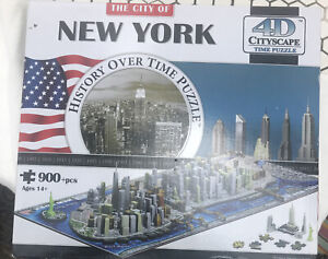 The City of New York History Over Time Puzzle 4D Cityscape 900+ Pc Open Box New