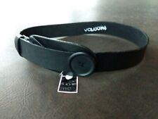 Volcom Loop & Button PU Belt - Black - New w/ Tags Sz Extra Small Fits 29