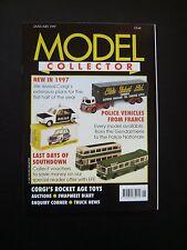 RIVISTA modello da collezione-Jan 1997 issue. TRI-ANG SPOT-ON, Polizia, Corgi, Traghetto
