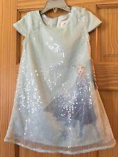 NWT Disney Store Frozen 2 Elsa Party Dress Girls Blue Sequin 3,4,5/6,7/8,9/10