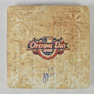 Joe Mauer Signed Game Used 2008 Opening Day Base MLB Authentic