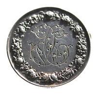 France  sterling silver medal,  engraving brooch